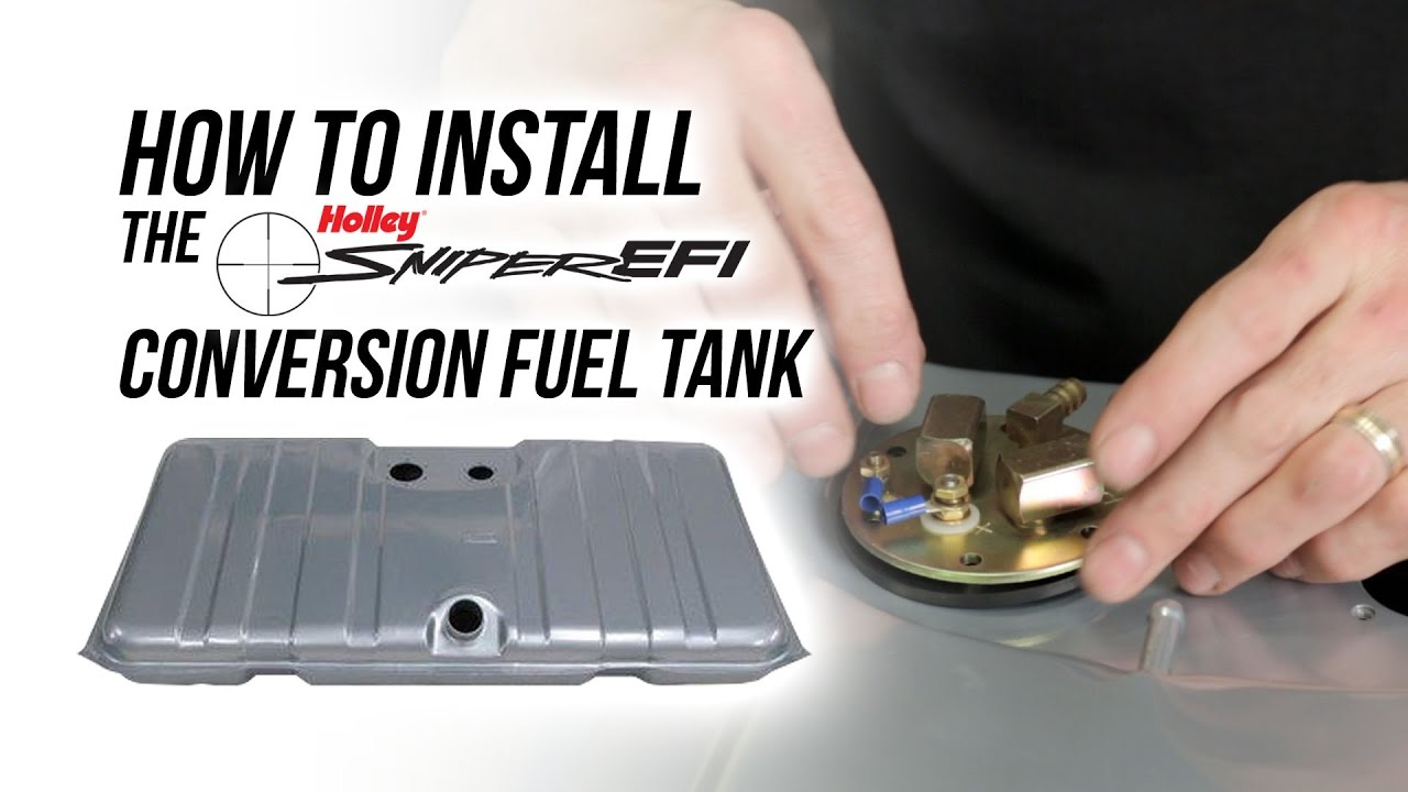 How To Install The Holley Sniper EFI Conversion Fuel Tank - YouTube