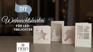 DIY: hübsche Weihnachtskarten für LED-Teelichter [How to] Deko Kitchen