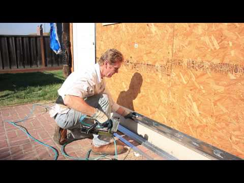 hang a weep drip screed on foundation past mud sill or plate