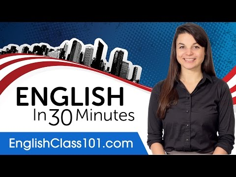 Learn English in 30 Minutes - ALL the English Basics You Nee