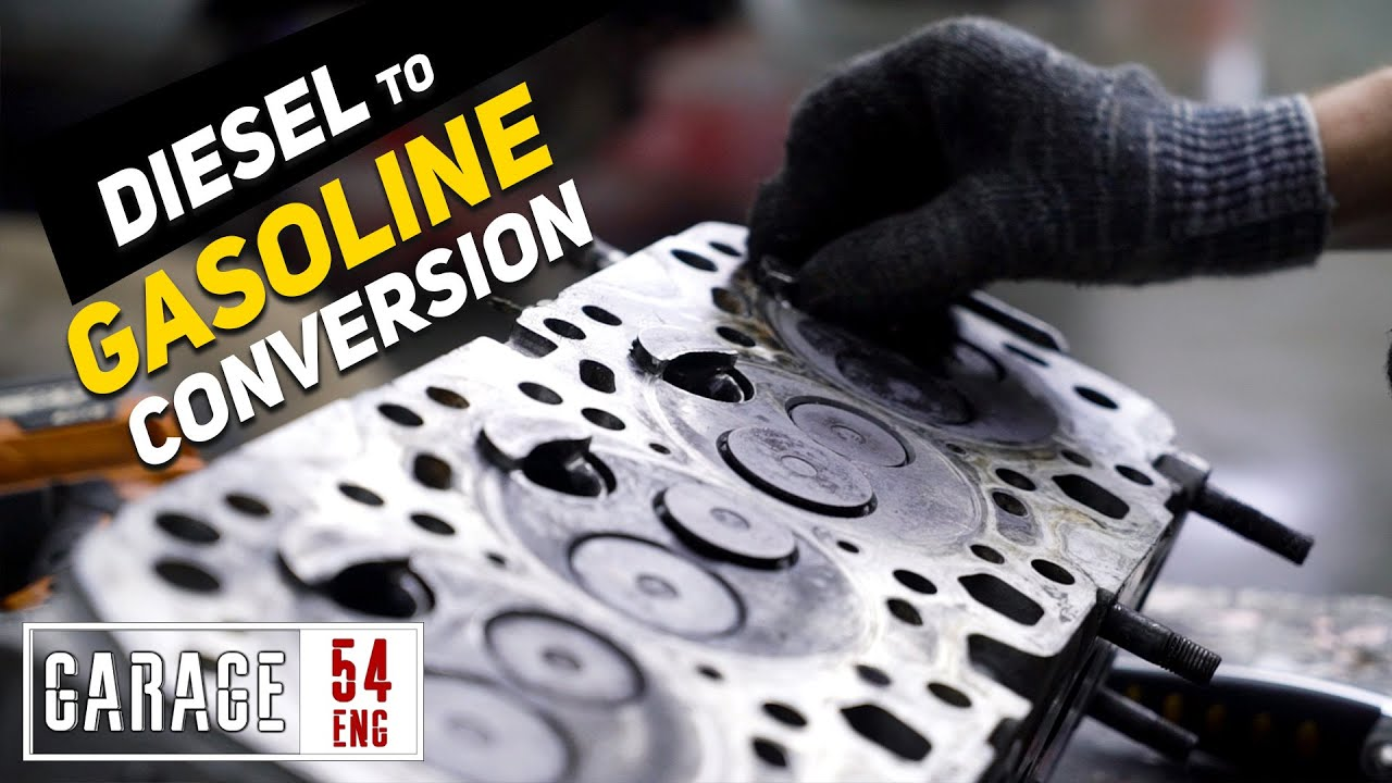 Converting a diesel engine to run on gasoline
