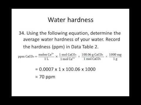 complexometric determination of water hardnesss The determination of the total hardness of water is based on a complexometric titration this method is intended to check the hardness of water used in the determination of methods who/m/26r1 3.