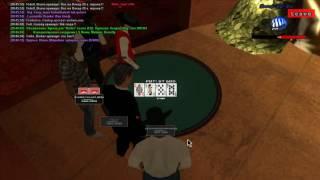 Samp RP - Тащерский покер.Full house +1.3kk and Straght + 1.7kk