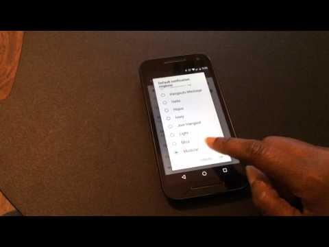 Motorola Moto G 3rd Gen. Notification Tones