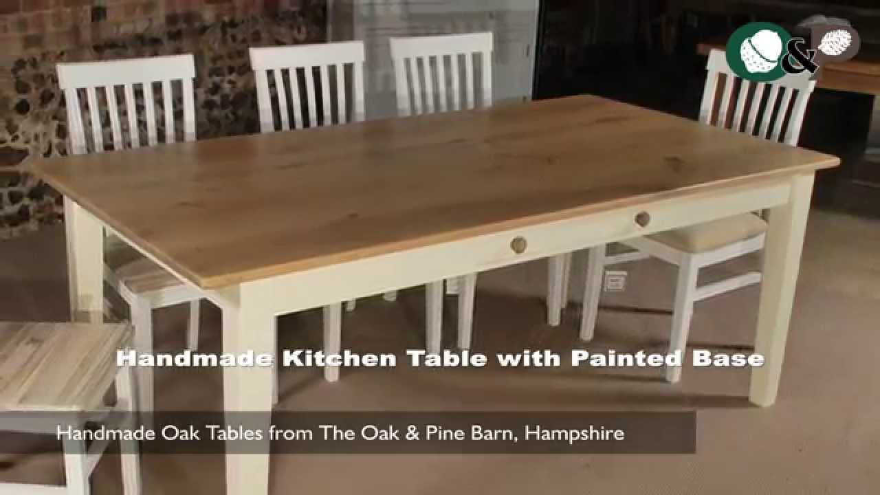Handmade Oak Tables - Handmade Kitchen Table with Painted ...