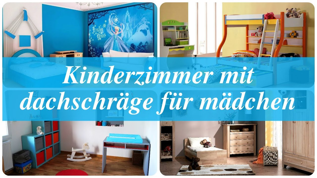 kinderzimmer mit dachschr ge f r m dchen youtube. Black Bedroom Furniture Sets. Home Design Ideas