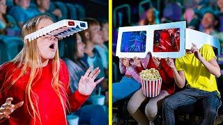 14 مقلب للسينما / طرق ظريفة لتمرير سناكس جوا السينما