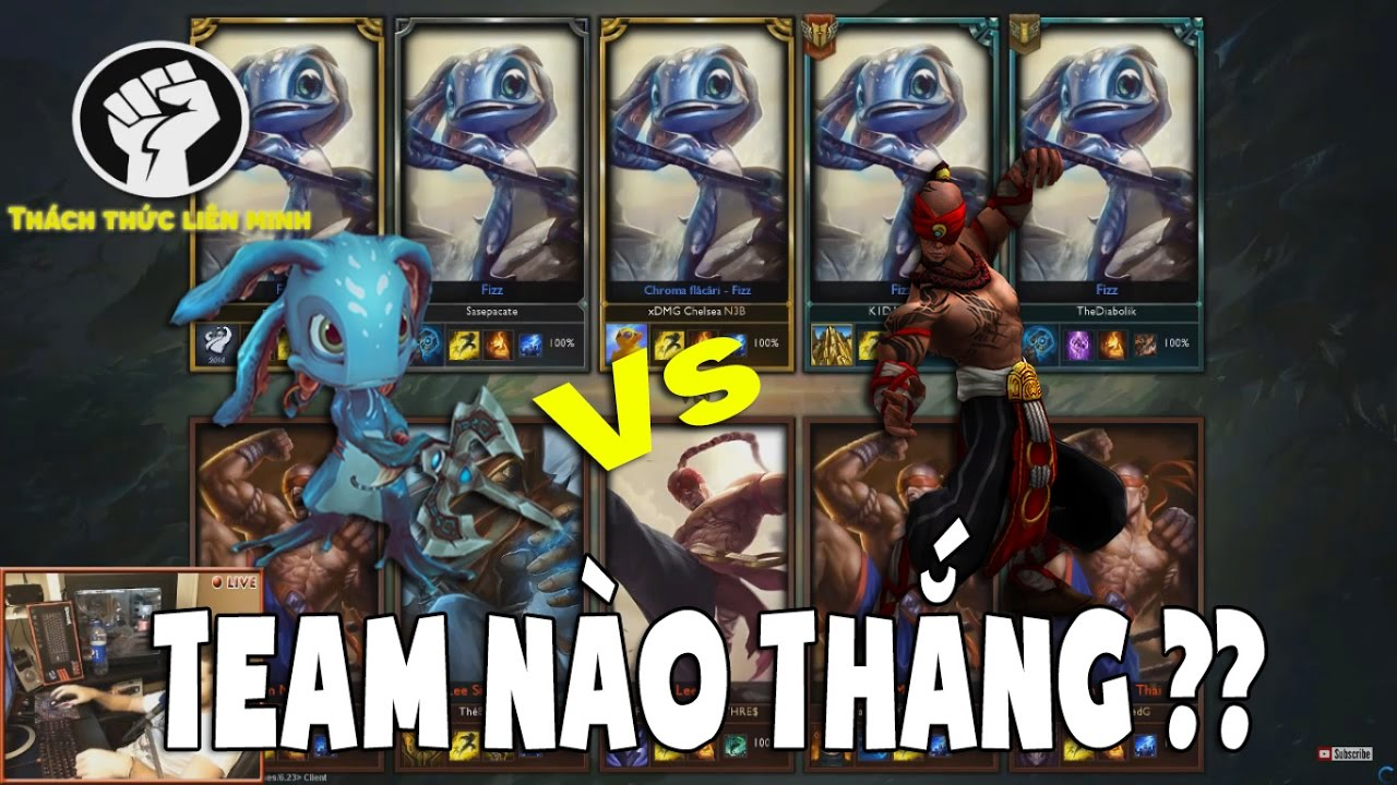 One For All: 5 Lee Sin Vs 5 Fizz | Nộ Long Cước Vs Triệu Hồi Thủy Quái -  League Of Legends