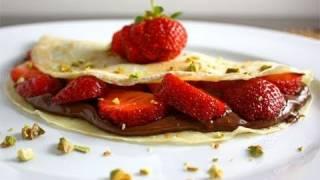 How To Make Crepes, Strawberry Banana Nutella Crepe Dessert (aprilathena7)