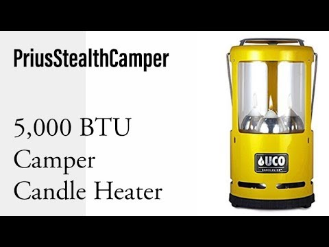 5,000 BTU Candle Camper Heater - UCO Candlelier Lantern, Heat your camper: RV Van Car SUV.