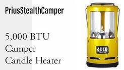 5,000 BTU Candle Camper Heater - UCO Candlelier Lantern, Heat your camper: RV Van Car SUV.