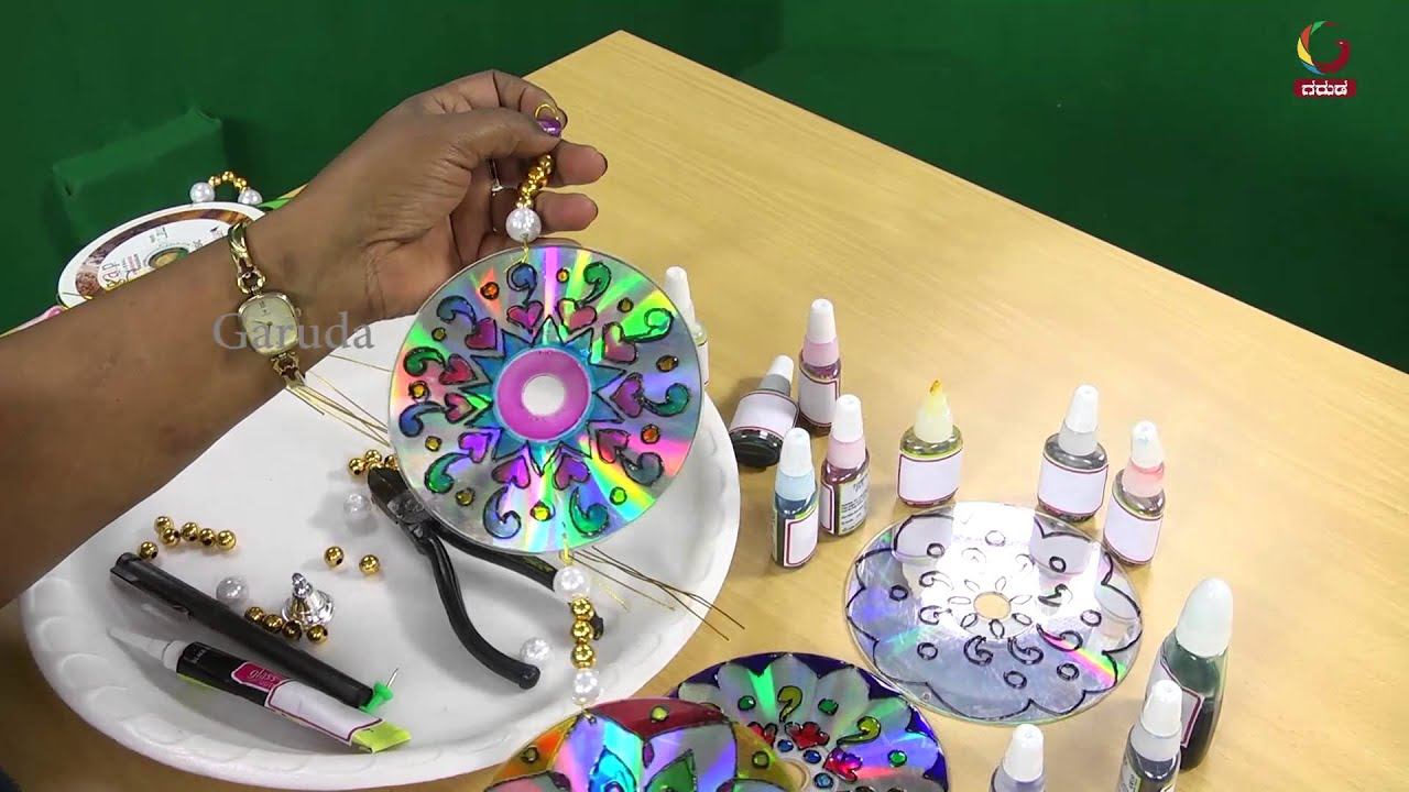 Craft Paint On CD\'s With Colors - YouTube
