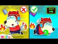 Wolfoo Pretend Play Escape During a Fire - Wolfoo Learns Fire Safety Tips for Kids   Wolfoo Channel