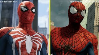 Spider-Man PS4 vs The Amazing Spider-Man 2 PS4 Pro Graphics Comparison