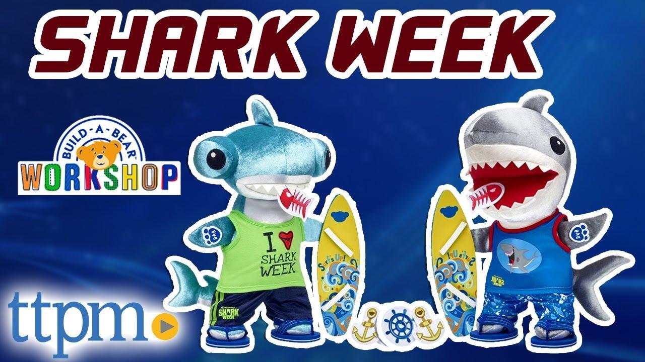 16c1b96b6b3 Build-A-Bear Shark Week - Great White and Hammerhead Sharks  REVIEW ...