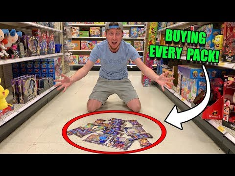 BUYING EVERY PACK OF POKEMON CARDS From ULTRA PRISM At A Target Store! (opening)