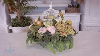 How to make a Lantern and Summer Flowers Table Arrangement