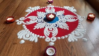Quick and easy sanskar bharti rangoli designs with colours for Diwali and Dussehra by Shital Daga