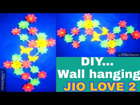 DIY : Wall Hanging CRAFT// JIO LOVE 2//home made decoration ideas//Crafts with paper.