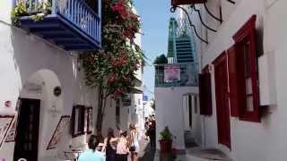 Visit Greece Mykonos Town and beaches. Summer holidays greek isles (Griechenland). Μυκονος βόλτα.