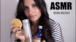 ASMR FRENCH ROLEPLAY - JE TE DEMAQUILLE (LOTION, CONTON,..)
