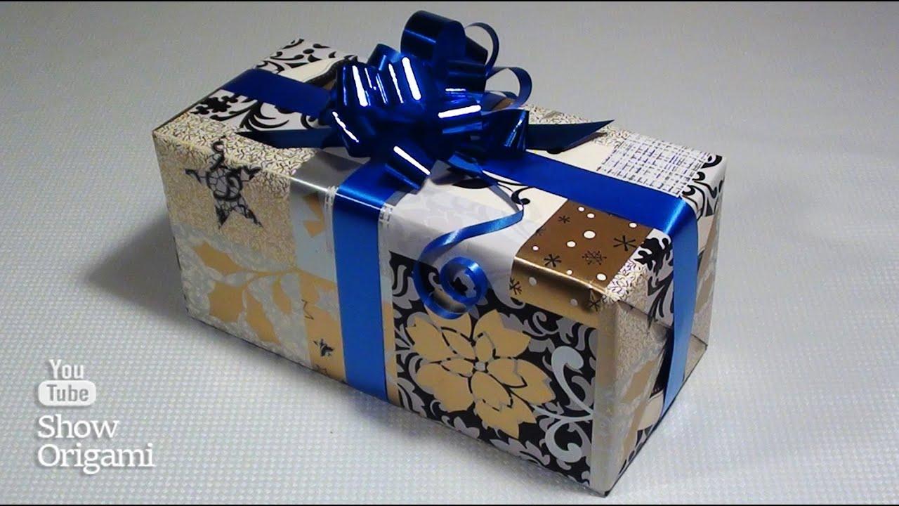 Как упаковать #подарок в бумагу