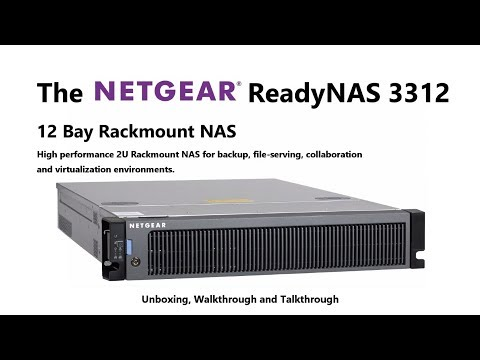 Unboxing the NetGear ReadyNAS RR3312 Rackmount 12-Bay NAS Server