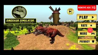 dinosaur games for kids Dinosaur Rampage apk gameplay