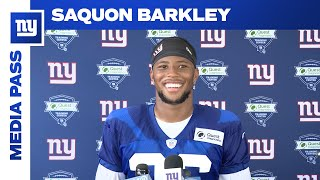 Saquon Barkley: Excited to be back with his teammates