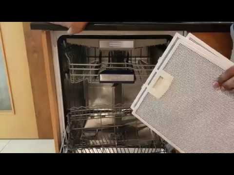 How to Clean Cooker Hood/chimney  Filter in Dishwasher,