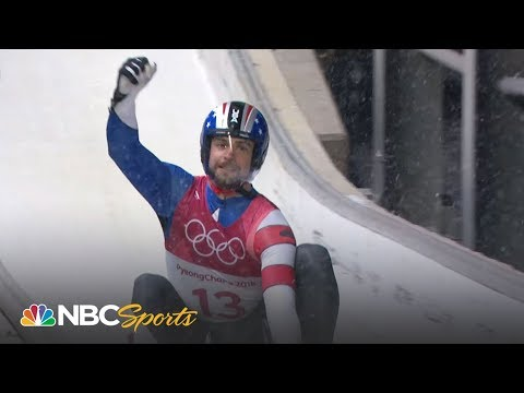 Chris Mazdzer's silver medal run in men's singles luge