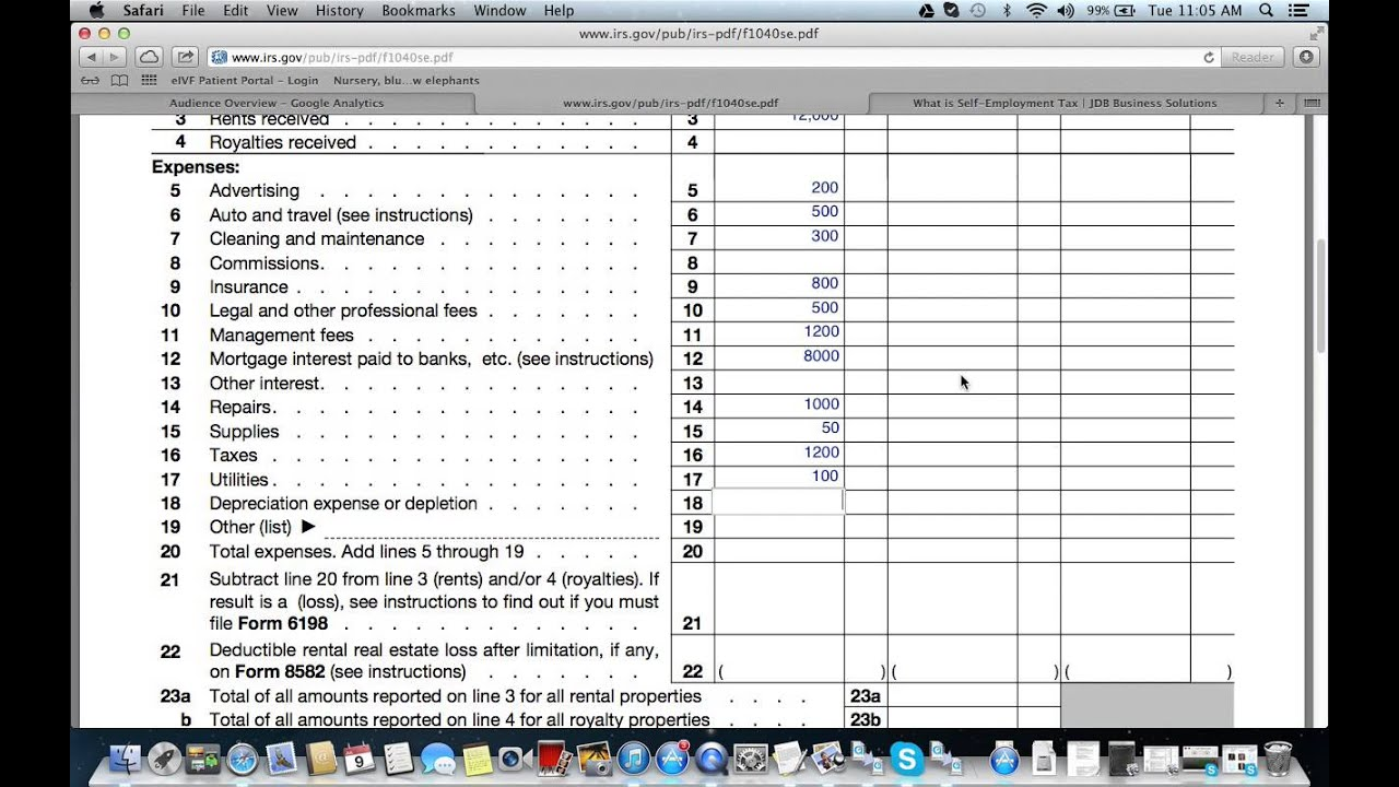 How To Fill Out Schedule E For Real Estate Investments Youtube