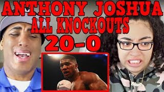 Anthony Joshua   All Knockouts (20-0) REACTION   MY DAD REACTS