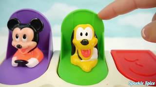 Learn Colors Play Doh Pop Ups Candy Surprise Toys Paw Patrol Little Bus Tayo Nursery Rhymes Finger