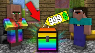 Minecraft NOOB vs PRO : NOOB BOUGHT THIS SUPER RAINBOW CHEST FOR 999$! Challenge 100% trolling