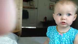 Talking Baby Starts a Conversation (13-Months-Old)