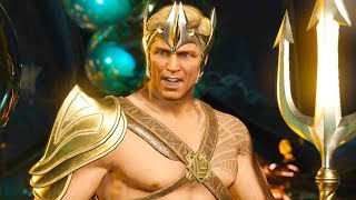 Injustice 2 PC - All Super Moves on Aquaman The Crown of Atlantis Costume 4K Ultra HD Gameplay