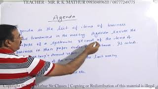 Drafting Agenda | Tools of communication | Business Communication | Mathur Sir Classes