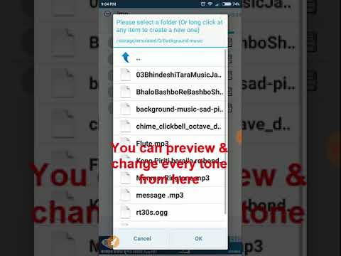 How change imo or messenger ringtone