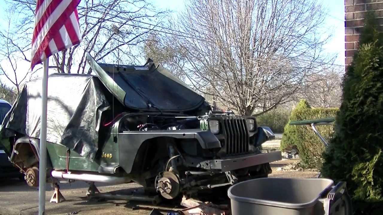 jeep wrangler yj fender replacement youtube rh youtube com jeep wrangler front bumper diagram jeep jk fender diagram