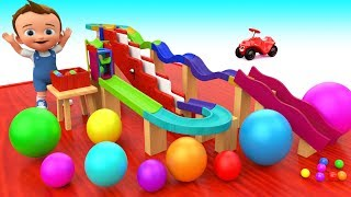 Color Balls Wooden Slider ToySet | Little Baby Fun Play Learning Colors for Kids Children Education
