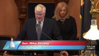 Sen. Shirkey delivers invocation at the Michigan Senate
