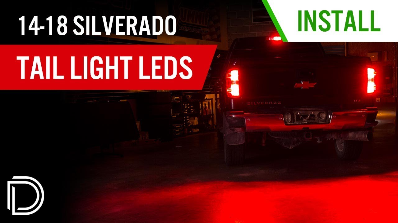 how to install 2014 2017 chevrolet silverado tail light rear turn signal leds diode dynamics [ 1280 x 720 Pixel ]