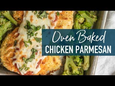 Baked Chicken Parmesan Recipe - Sheet Pan Chicken Parm