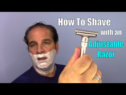 How To Shave With An Adjustable Razor 3-2-1 Smooth!