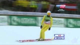 Jason Lamy Chappuis 201.5m Planica 2011 Team Competition First Round