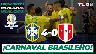 Highlights   Brasil 4-0 Perú   Copa América 2021   Grupo A-J2   TUDN