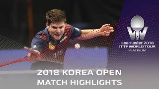 Ovtcharov Dimitrij vs Angles Enzo | 2018 Korea Open Highlights (R32)