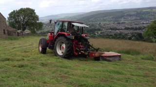 Haytime 2013. Mowing with Mccormick CX85