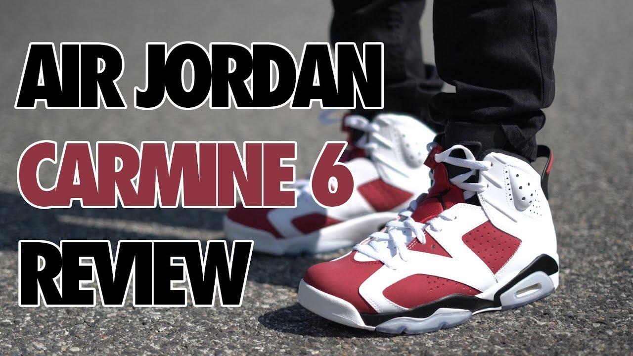 info for 07205 b51c0 Air Jordan 6 Carmine Review On Feet